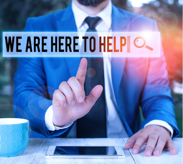 Someone who is always ready to Assist Support Give Businessman