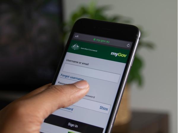 myGov Australia website