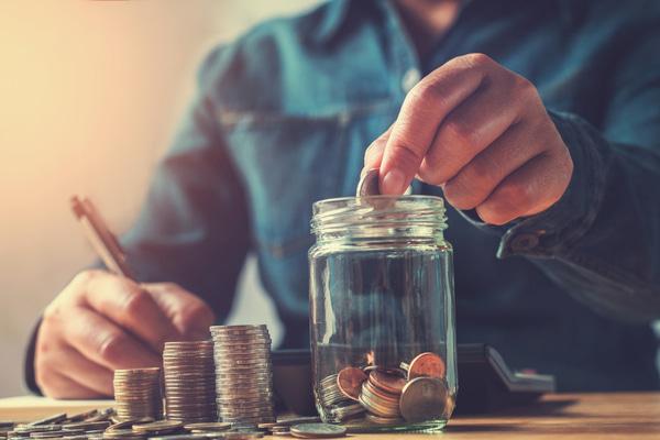 Start a savings jar slider