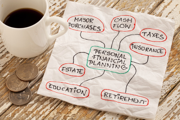 Personal financial planning concept